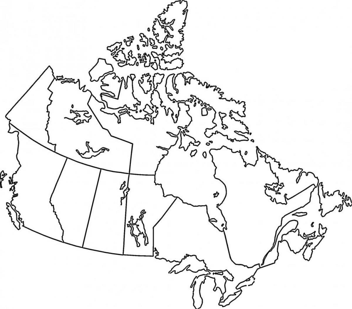Kuzey Amerika Amerikarenkli Kanada Boyama Sayfasını Göster Göster